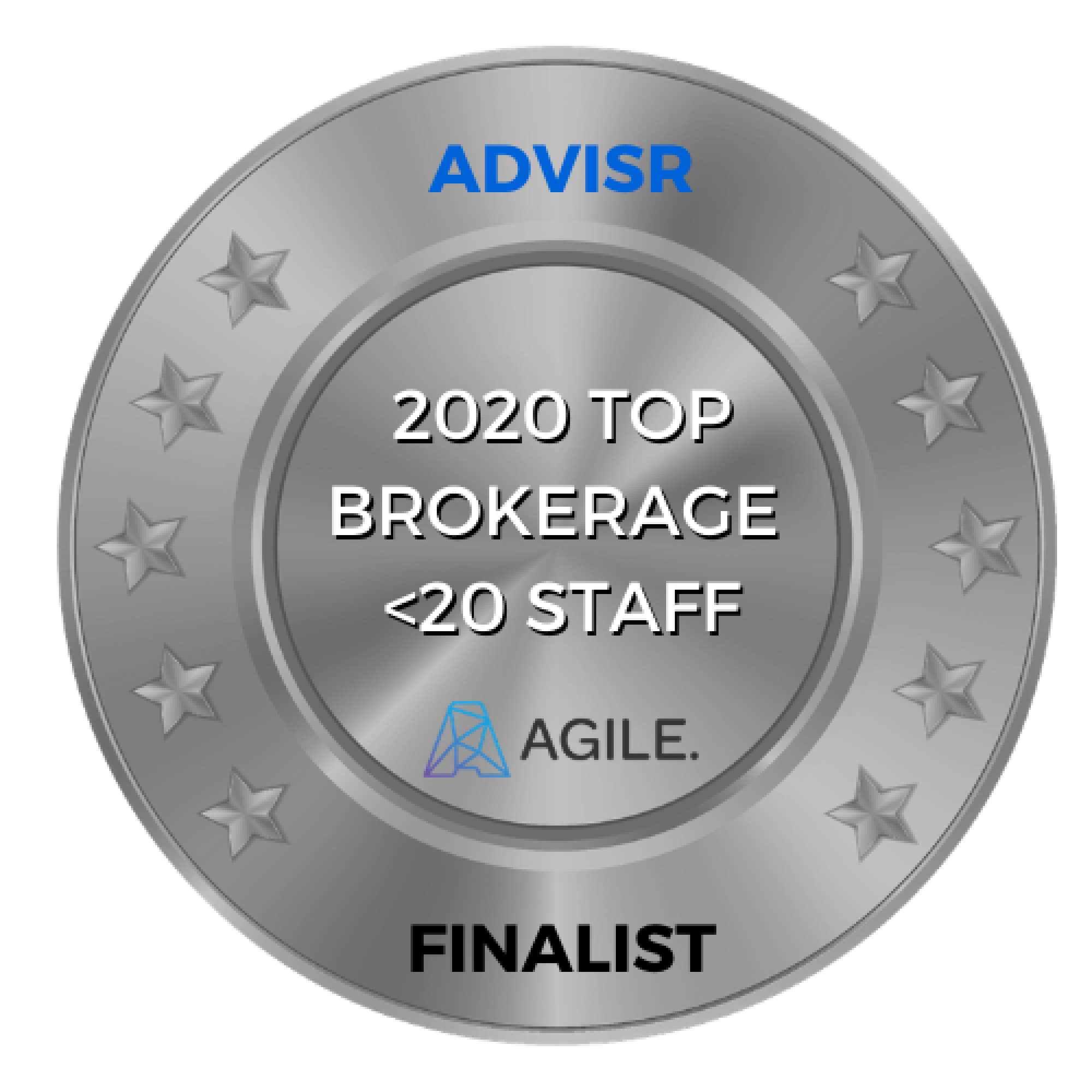 Advisr Insurance Broker Awards 2020 Finalist | Top Brokerage <20 staff