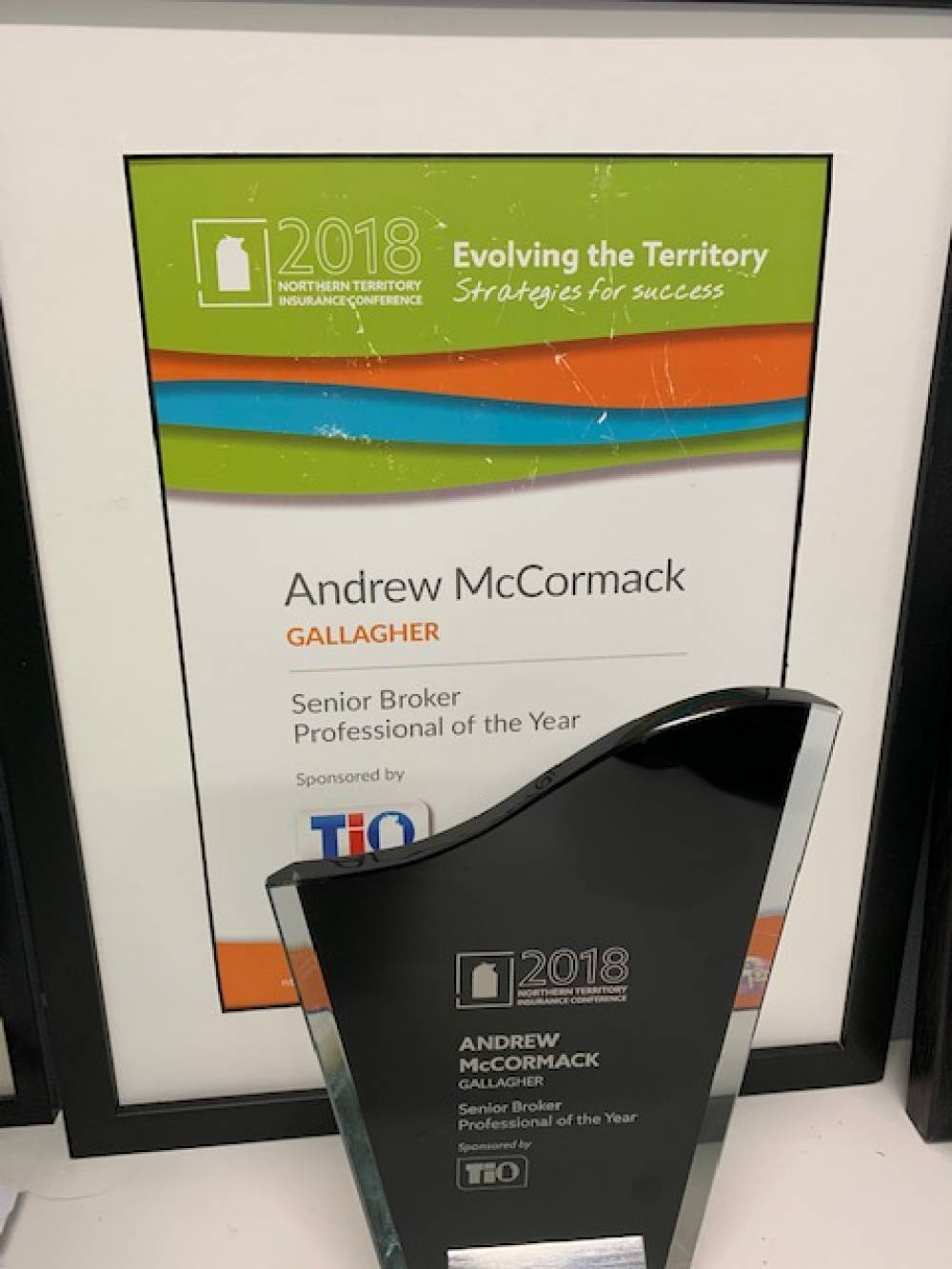 Northern Territory Insurance Conference 2018 Senior Broker Professional of the Year