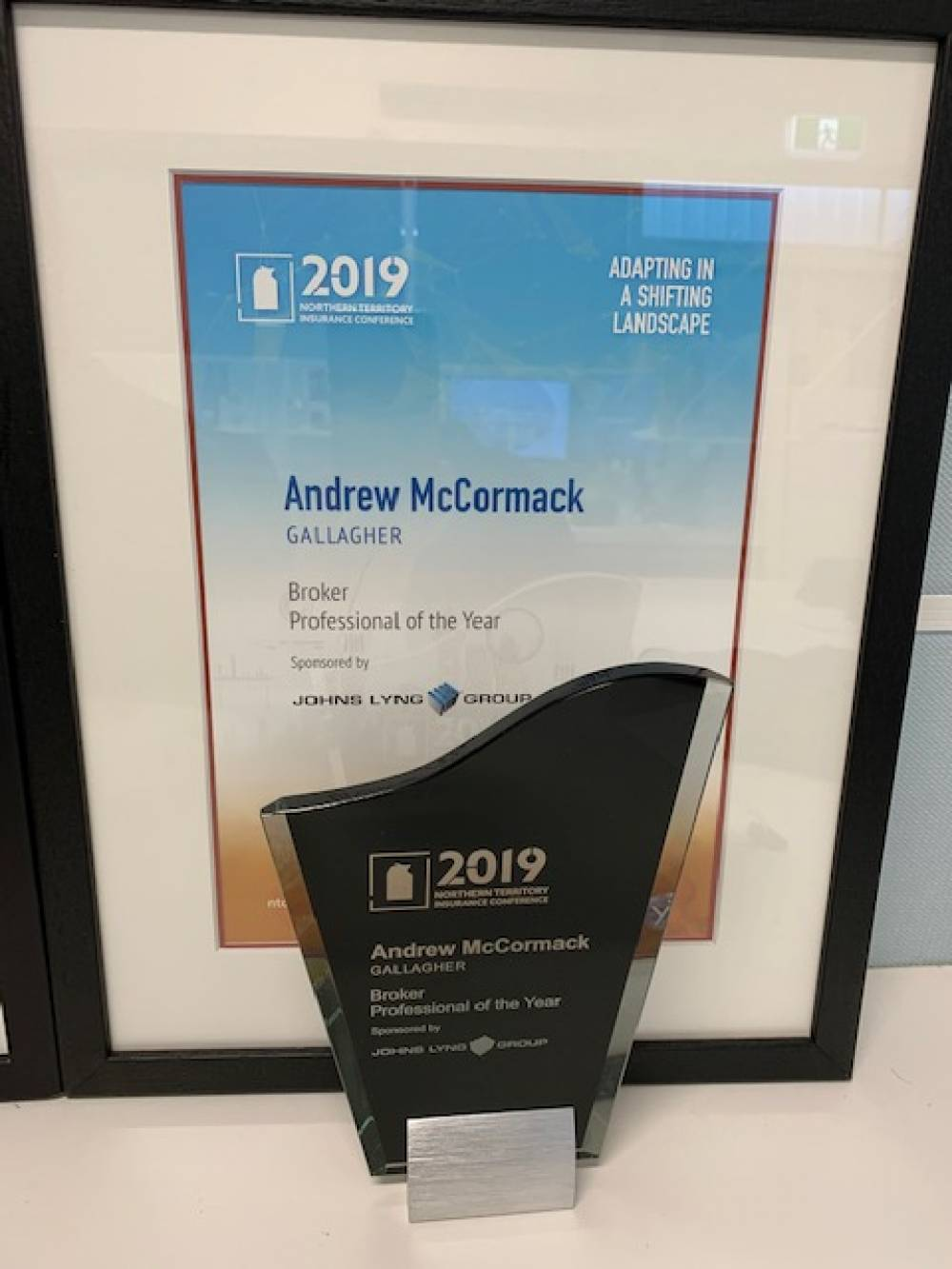 Northern Territory Insurance Conference 2019 Broker Professional of the Year