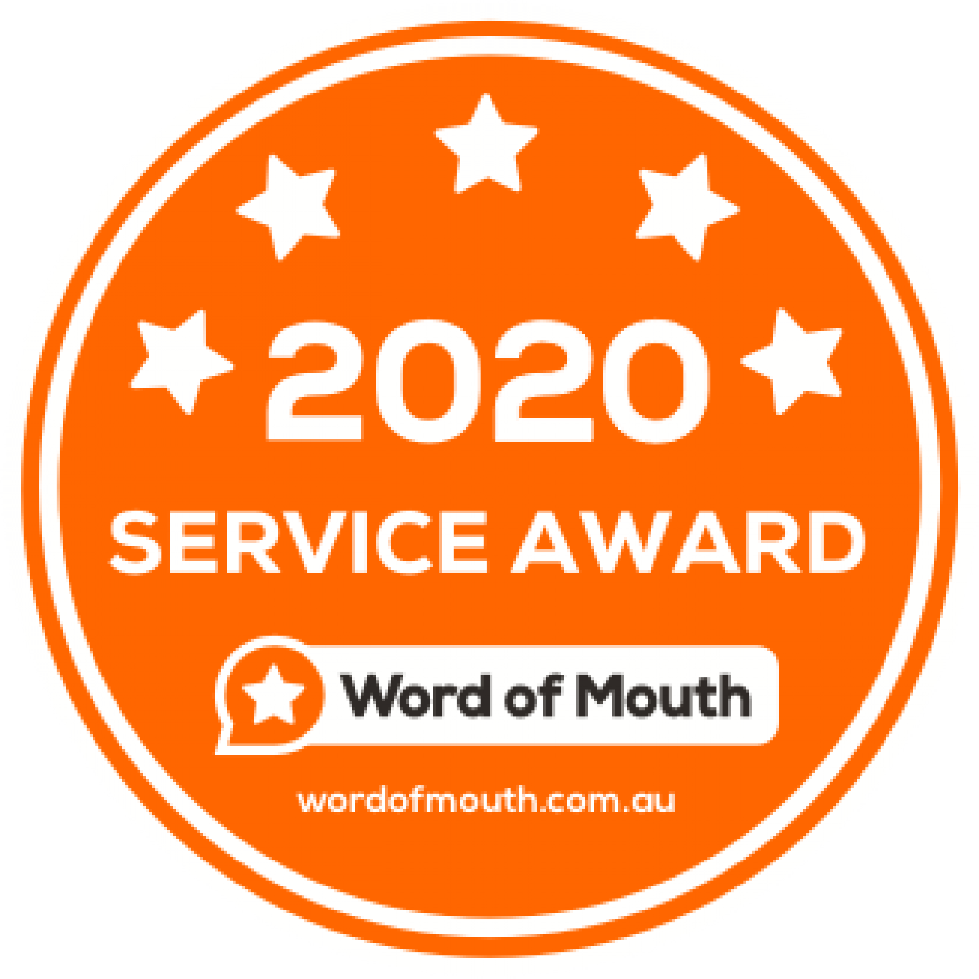 Word of Mouth 2020 Service Award