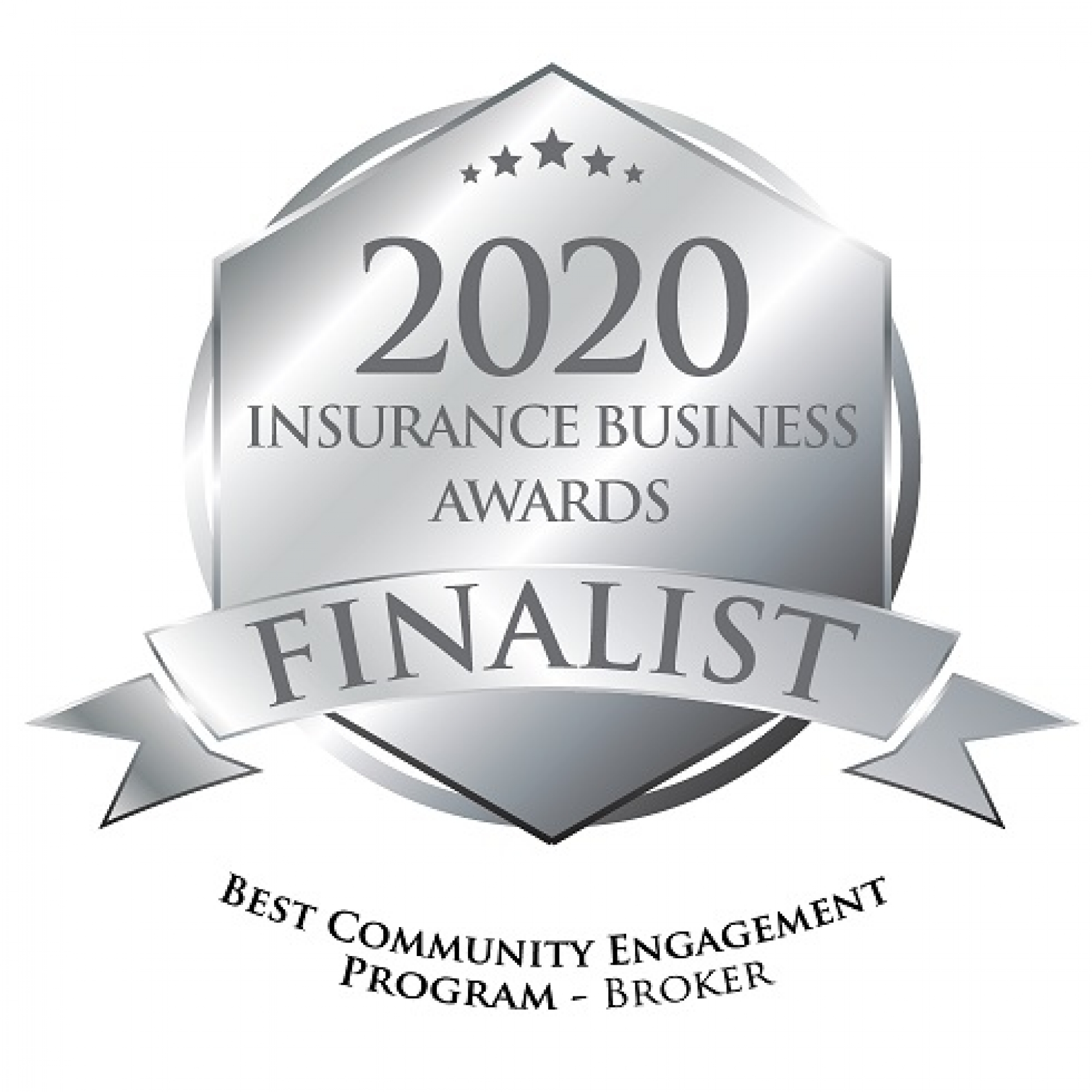 2020 Insurance Business Awards Finalist - Best Community Engagement Program - Broker