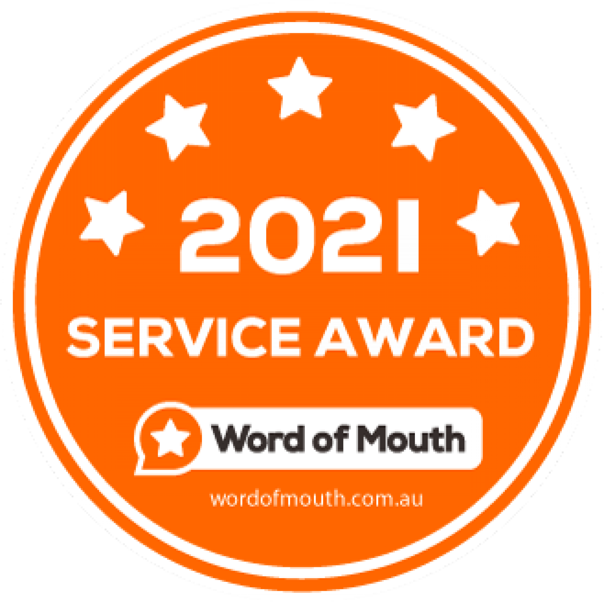 Word of Mouth 2021 Service Award