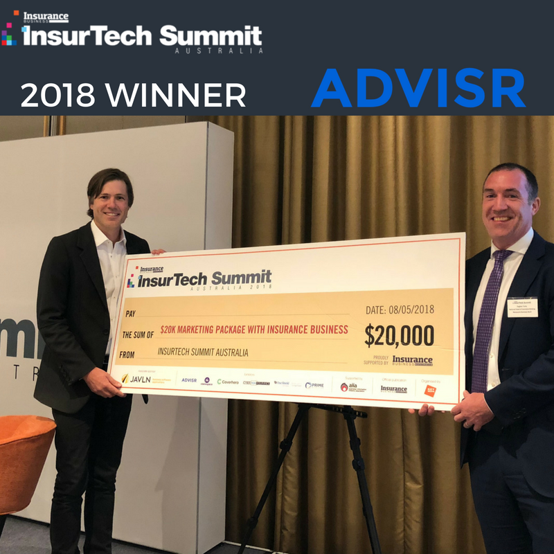 Advisr wins Insurance Business Insurtech Pitch 2018